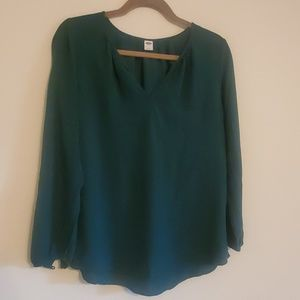 Forest green blouse